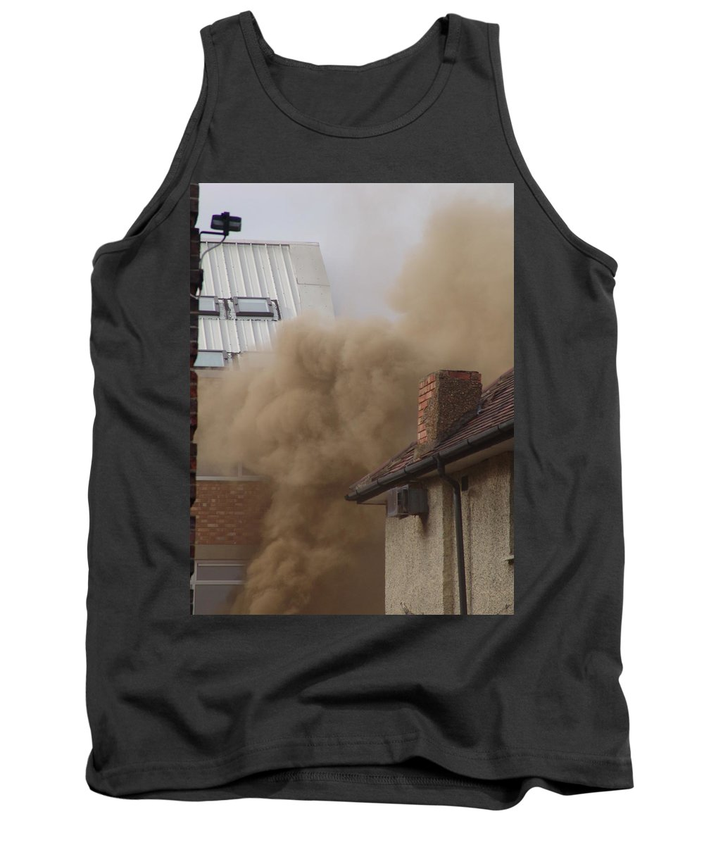 Smoke Tank Top featuring the photograph Smoke by Ashok Patel