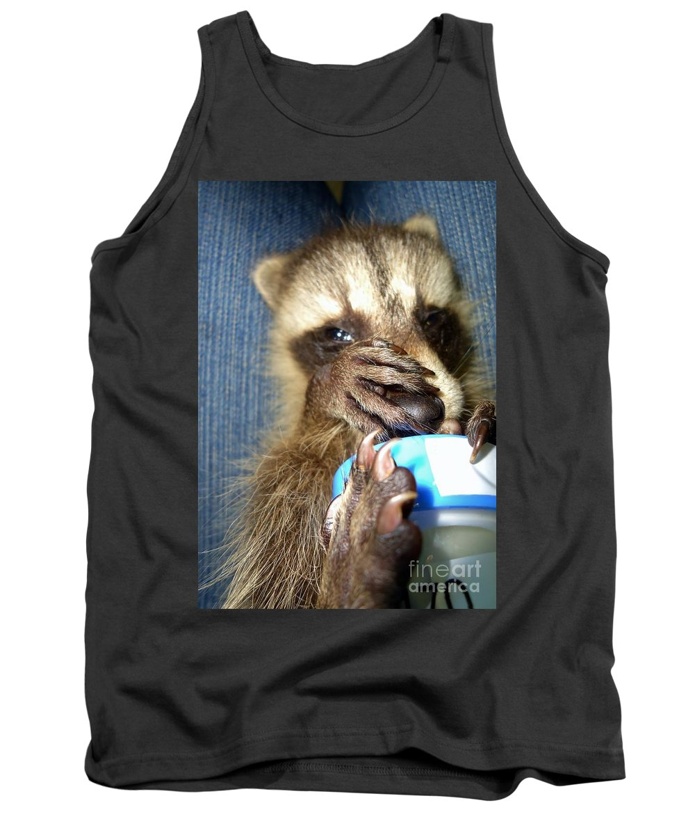 Nature Tank Top featuring the photograph Snuggle Bug by Art Dingo