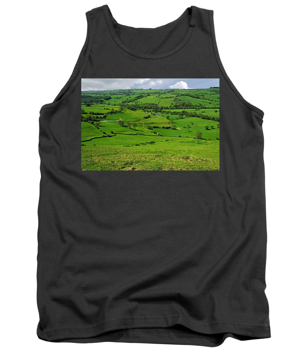 Countryside Tank Top featuring the photograph South West From Thorpe Cloud Summit by Rod Johnson