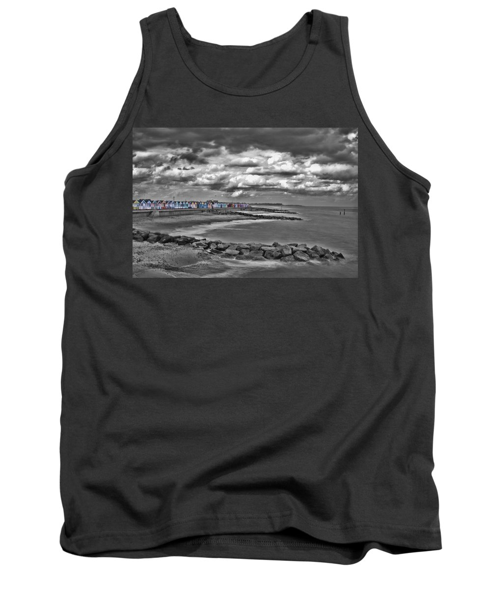 Southwold Beach Tank Top featuring the photograph Southwold Beach Huts by Dave Godden