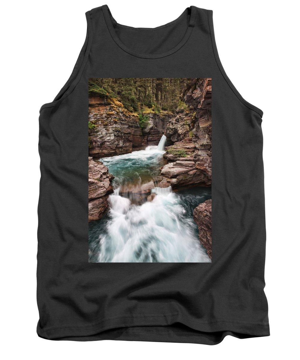 Falls Tank Top featuring the photograph St. Mary Falls Glacier National Park by Shari Jardina