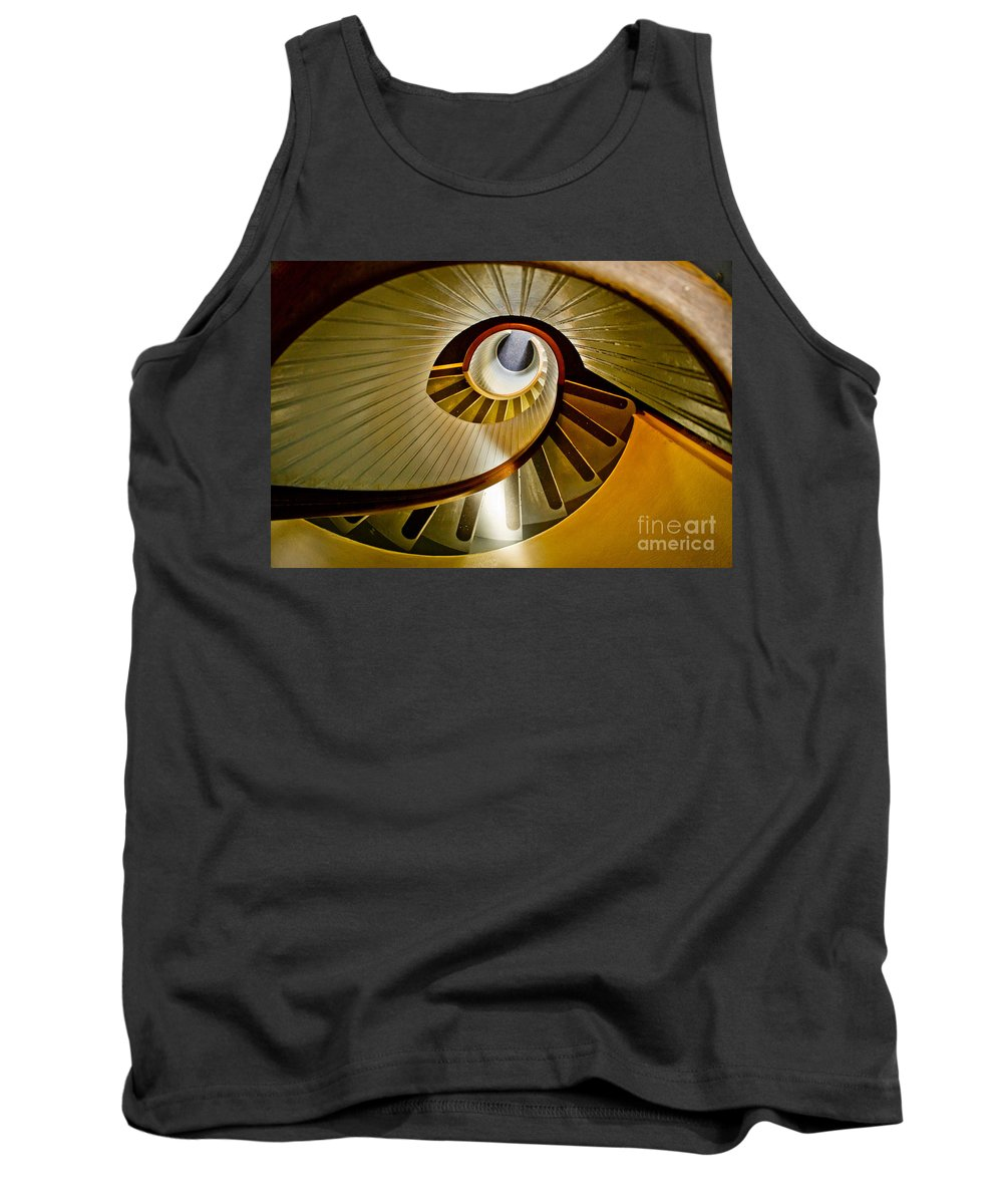 Spiral Tank Top featuring the photograph Stairs Stares by Athena Lin