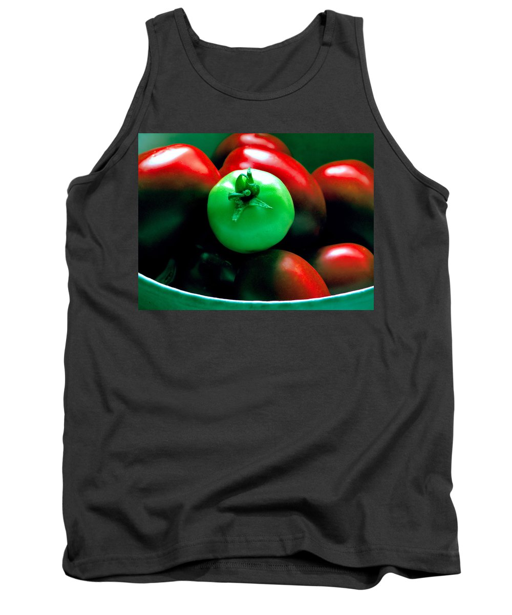 Tomato Tank Top featuring the photograph Standing Out In A Crowd by Rory Sagner