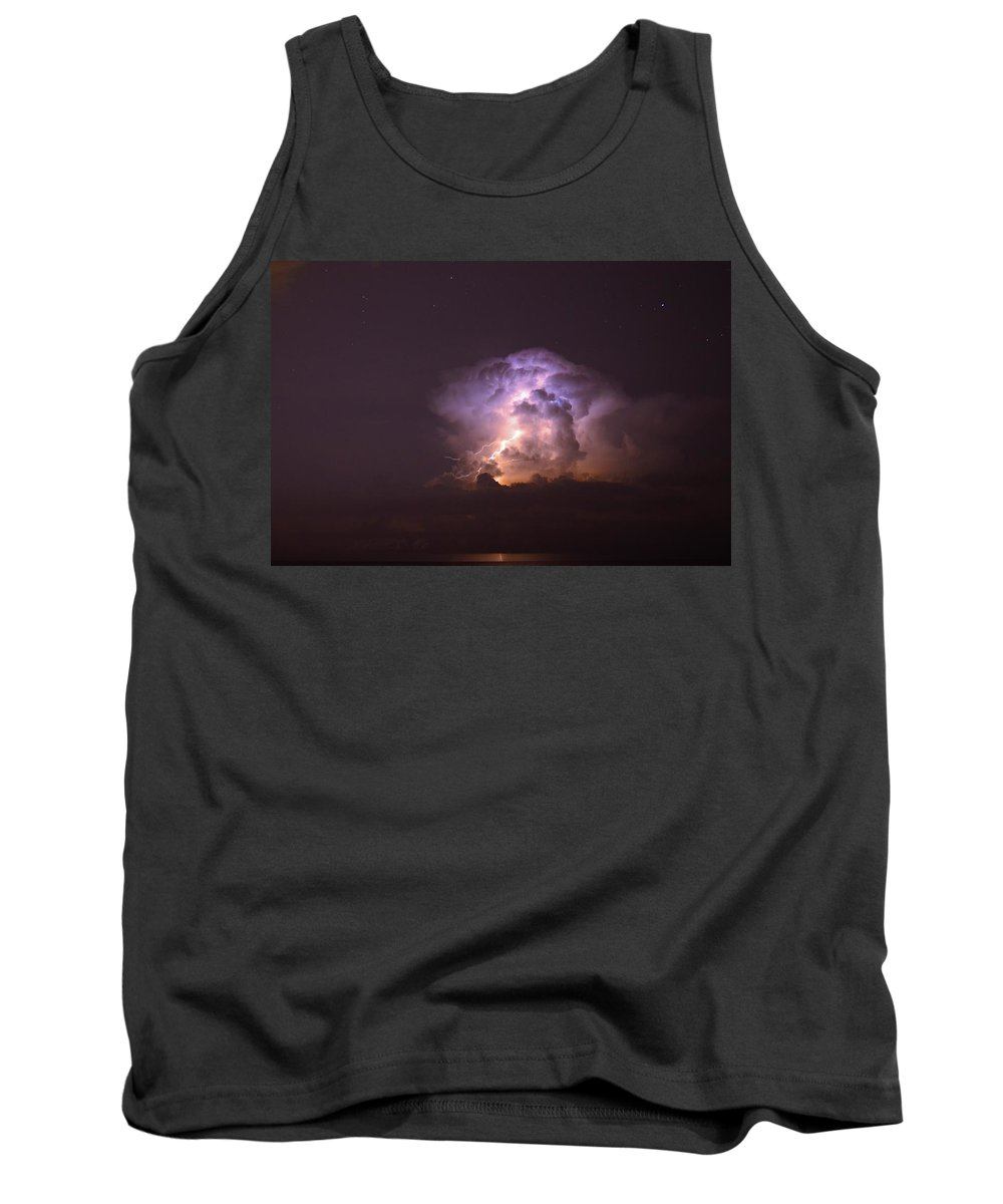 Lightning Tank Top featuring the photograph Stars And Lightning by David Morefield