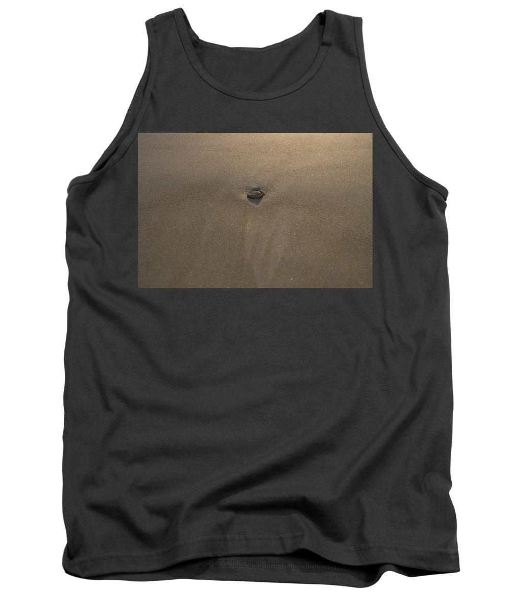 Blue Tank Top featuring the photograph Stone And Sand by Michael Goyberg