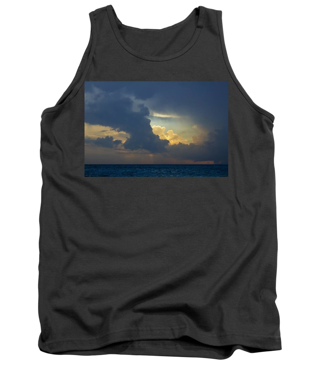 Art Tank Top featuring the photograph Storm Clouds At Sunset Over Lake Michigan by Randall Nyhof