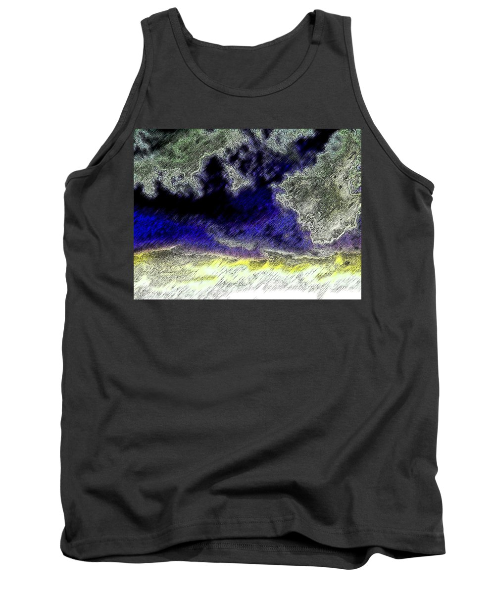 Abstract Tank Top featuring the photograph Storm On The Landscape by Lenore Senior