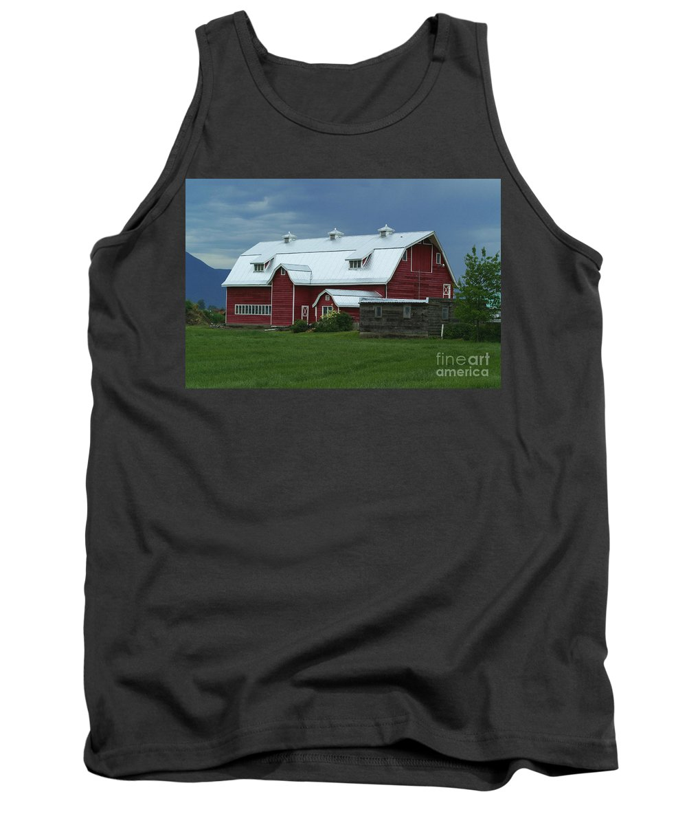 Barns Tank Top featuring the photograph Stormy Barnyard by Randy Harris