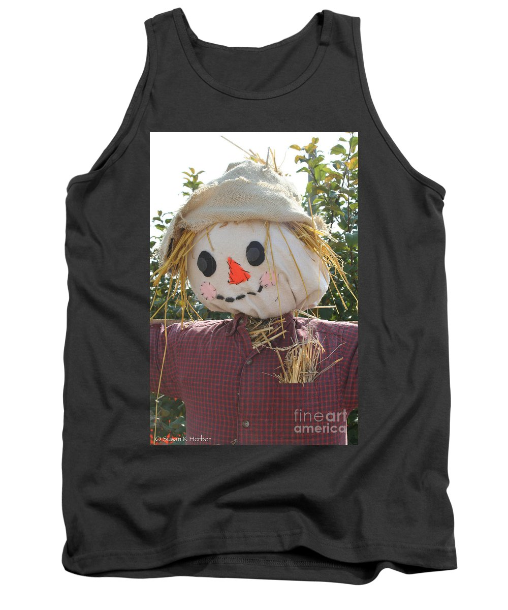 Outdoors Tank Top featuring the photograph Straw Stuffed by Susan Herber