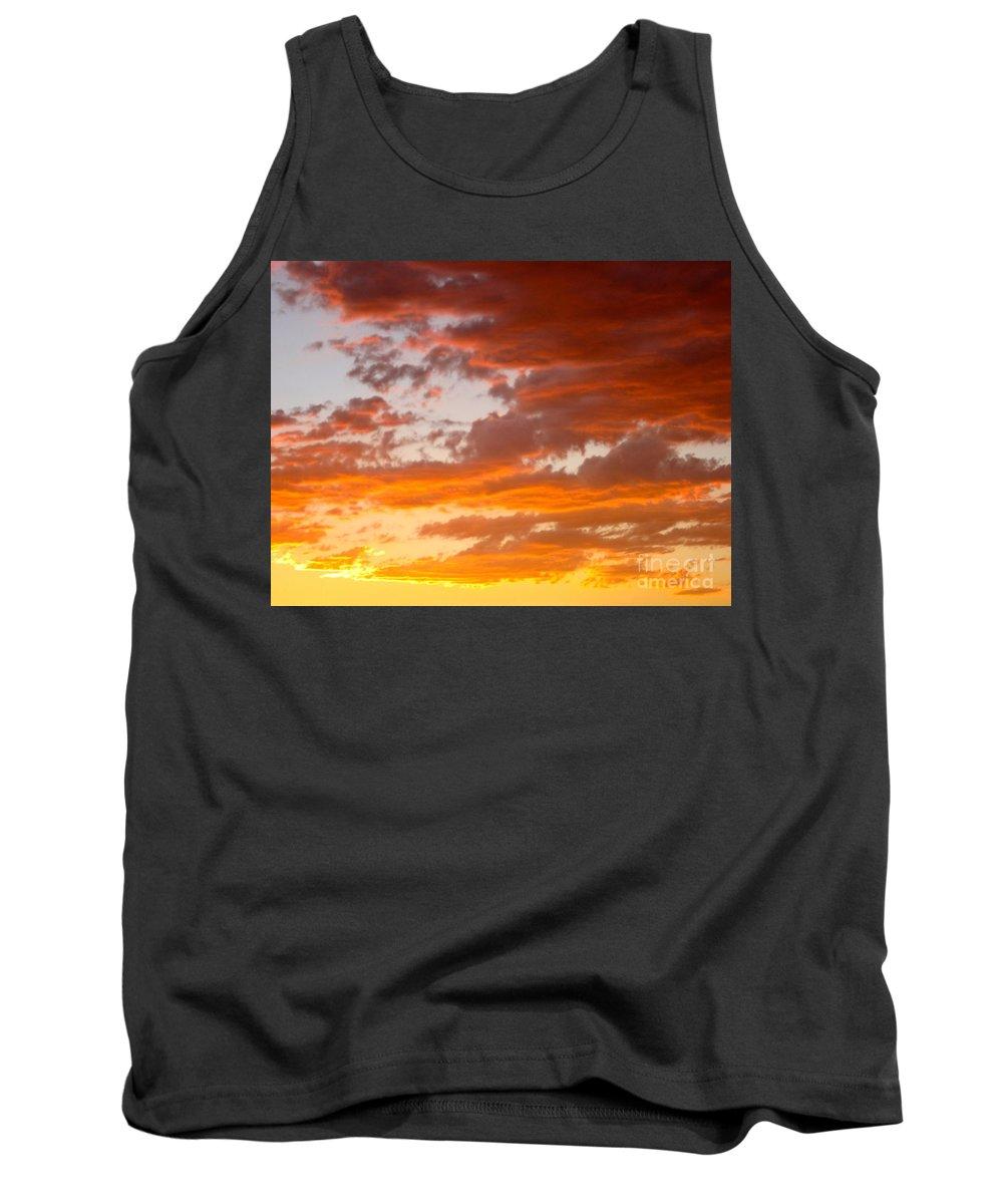 Sunset Tank Top featuring the photograph Stunning Sunset by Phyllis Kaltenbach