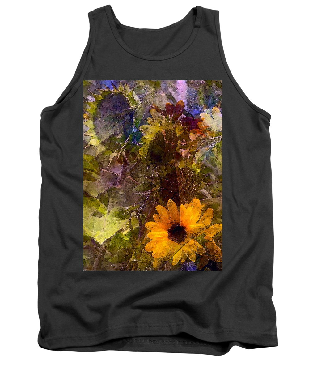 Floral Tank Top featuring the photograph Sunflower 12 by Pamela Cooper