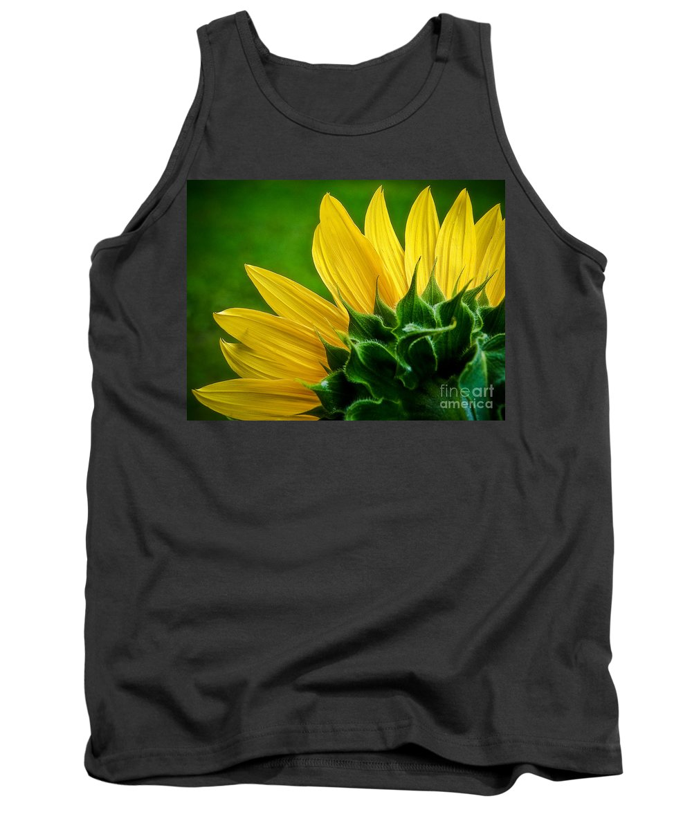 Flower Tank Top featuring the photograph Sunflower by Larry Carr