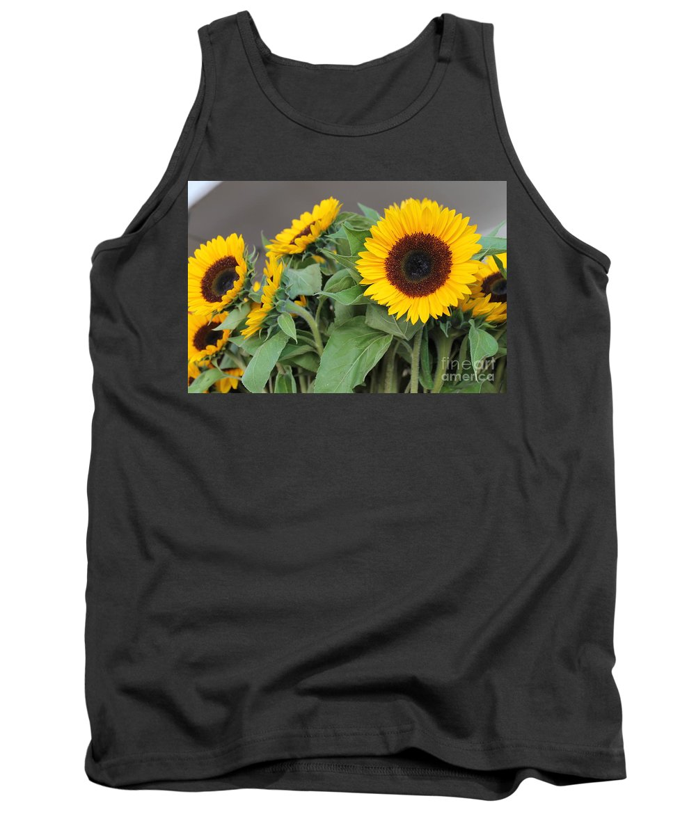 Sunflowers Tank Top featuring the photograph Sunflowers At Pikes Market by Pamela Walrath