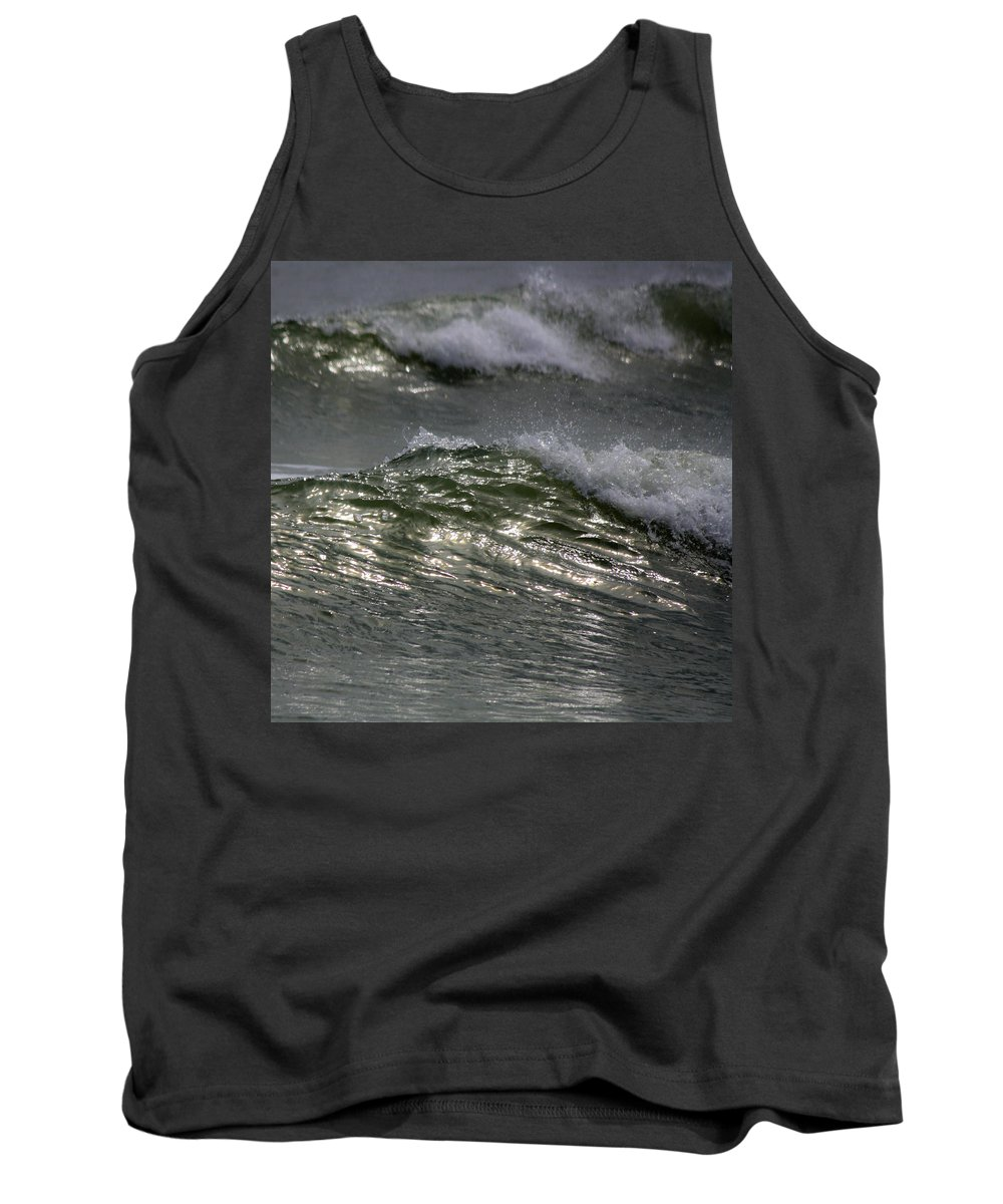 Sunlight Tank Top featuring the photograph Sunlight And Waves 1 by Teresa Mucha
