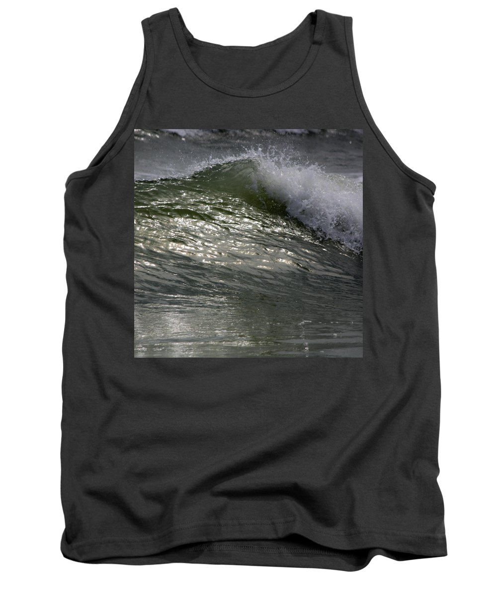 Sunlight Tank Top featuring the photograph Sunlight And Waves 2 by Teresa Mucha