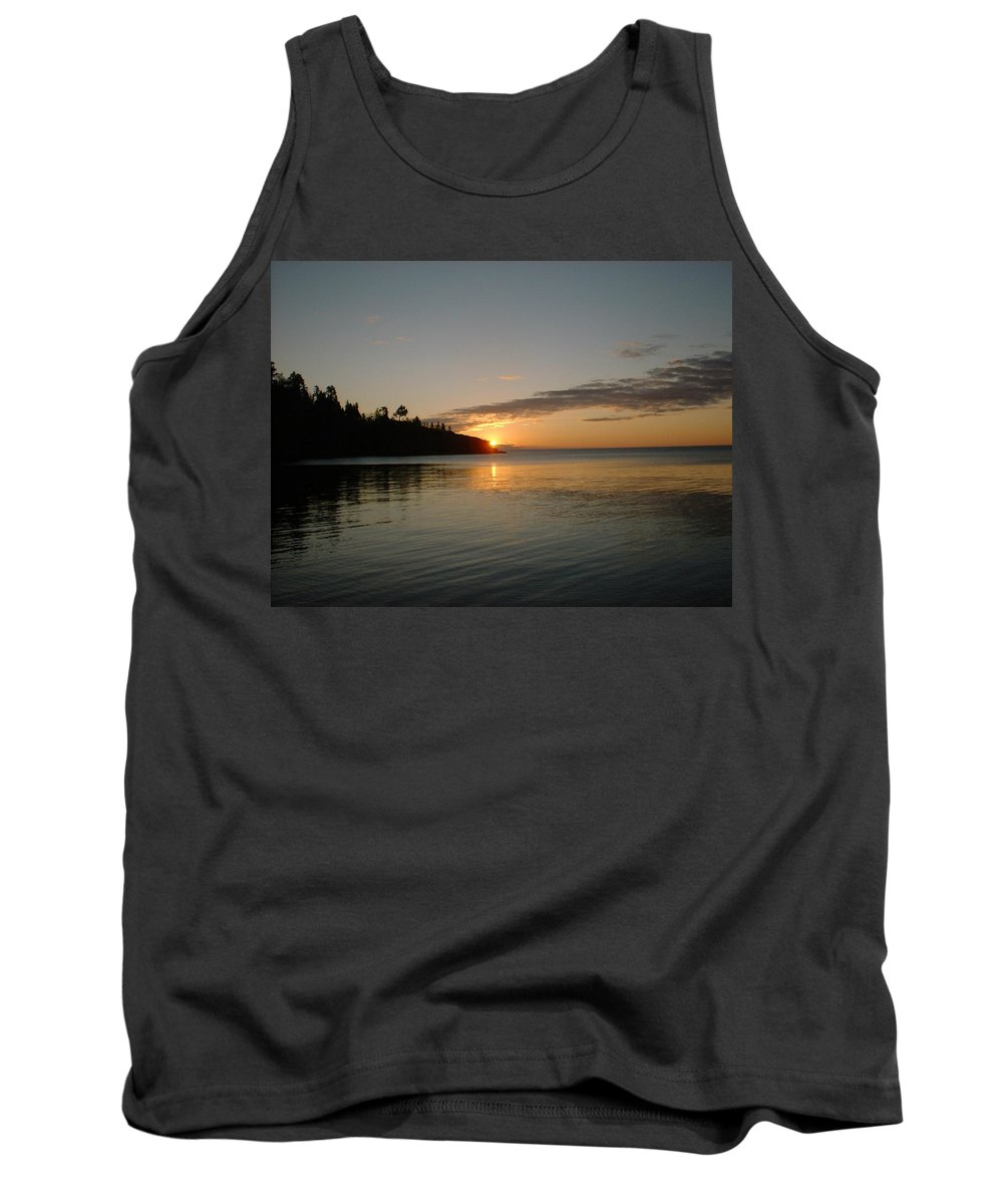 Sun Tank Top featuring the photograph Sunrise On Superior by Bonfire Photography