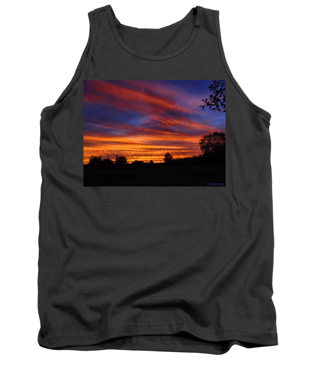 Sunset Tank Top featuring the photograph Sunset 2  09 22 12 by Joyce Dickens