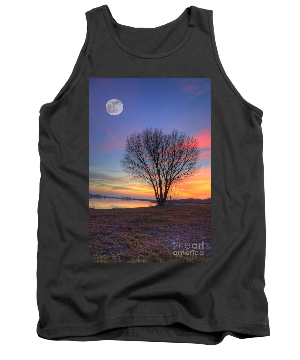 Lake Tank Top featuring the photograph Sunset Over The Lake by Jim And Emily Bush