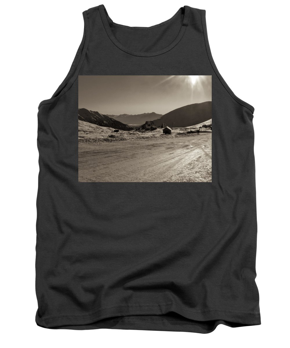 Alaska Tank Top featuring the photograph Sunshine At Hatcher Pass by Roger Wedegis