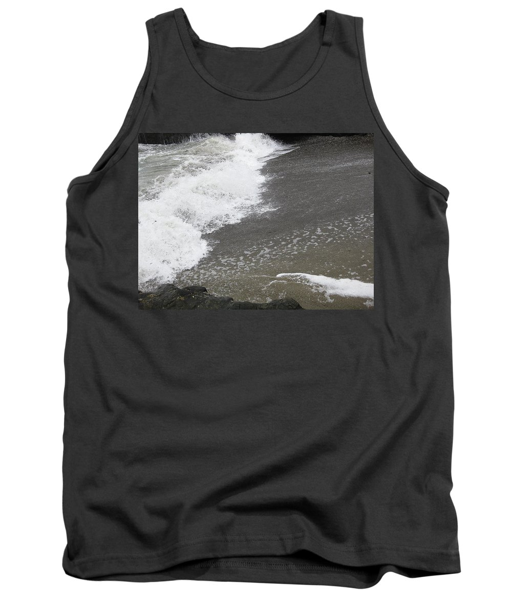 Ocean Tank Top featuring the photograph Surf And Sand by Linda Hutchins