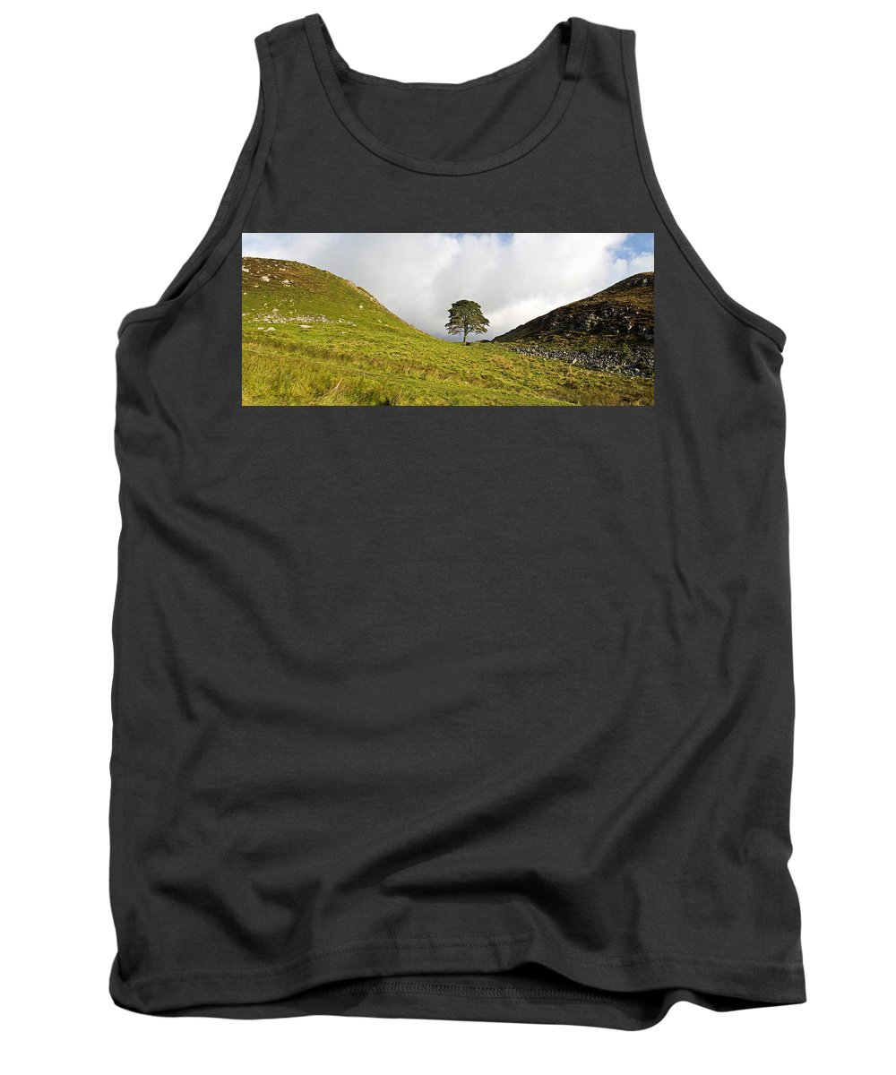 Roman Wall Tank Top featuring the photograph Sycamore Gap II by David Pringle