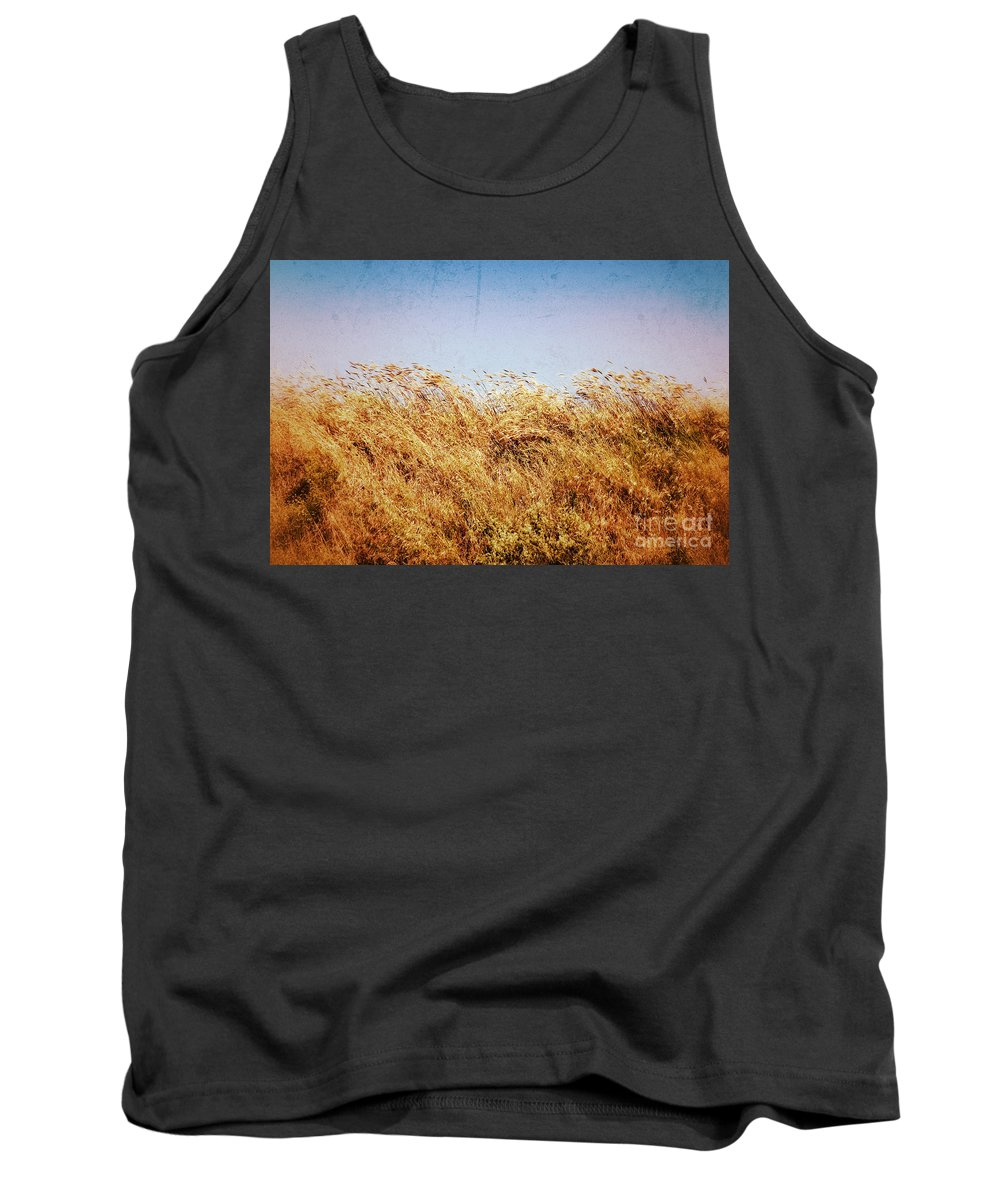 Grass Tank Top featuring the photograph Tall Grass In The Wind by Silvia Ganora