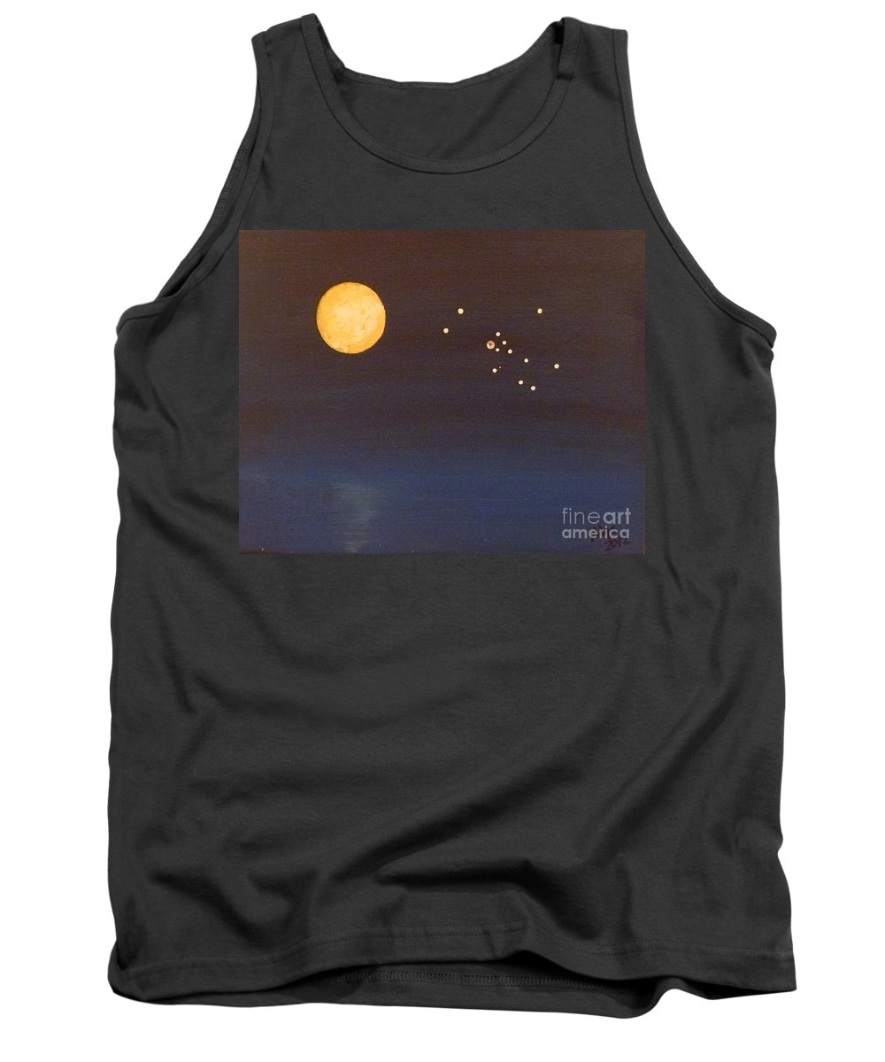 Taurus Tank Top featuring the painting Taurus by Alys Caviness-Gober