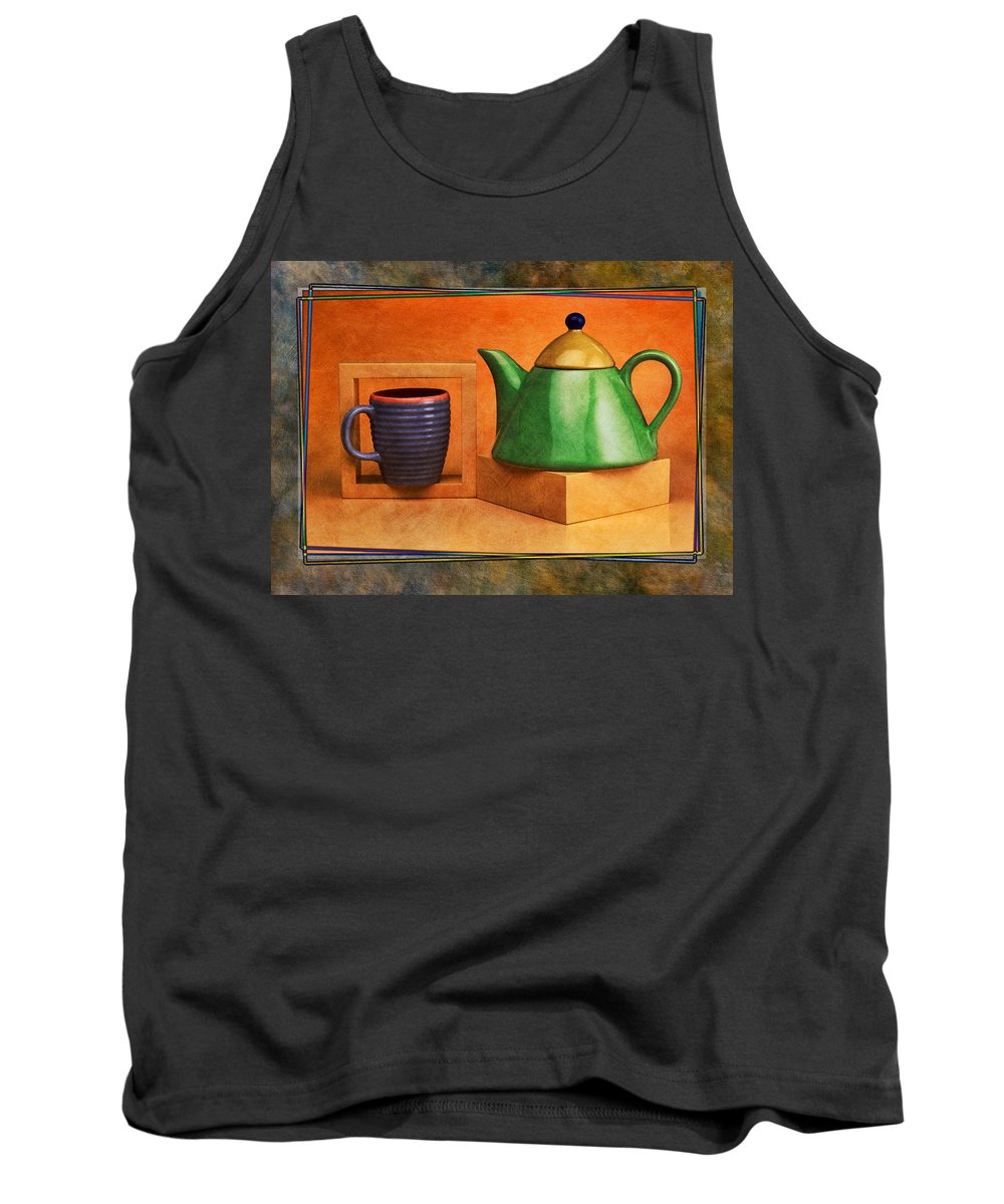 Art Tank Top featuring the pyrography Tea by Mauro Celotti