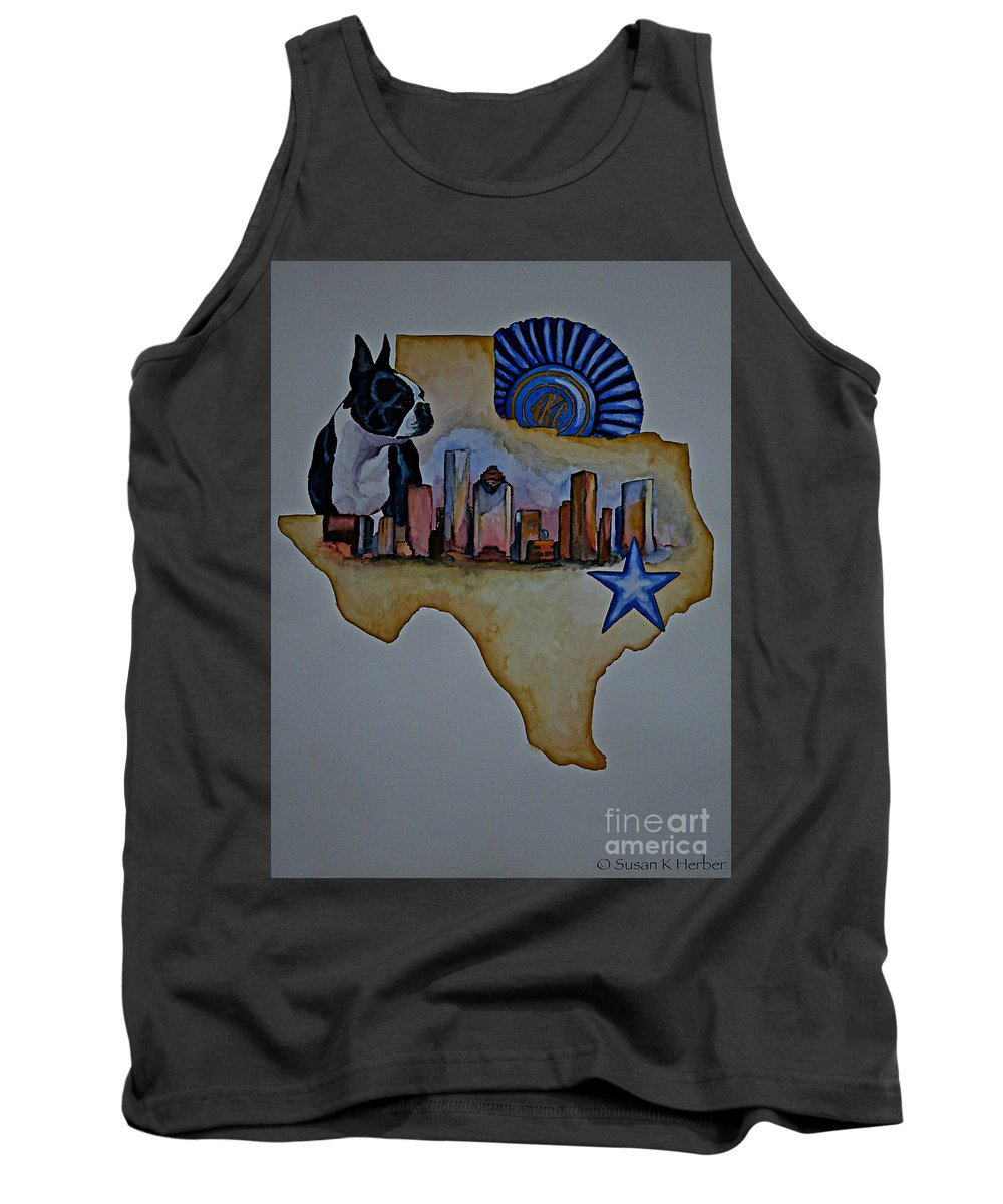Tank Top featuring the painting Texas Bound 3 by Susan Herber