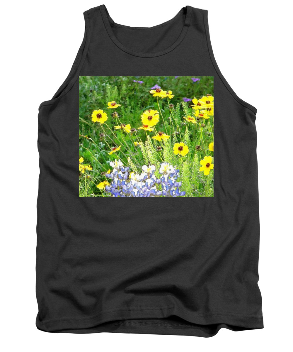 Wildflowers Tank Top featuring the photograph Texas Wildflowers by Amber Stubbs