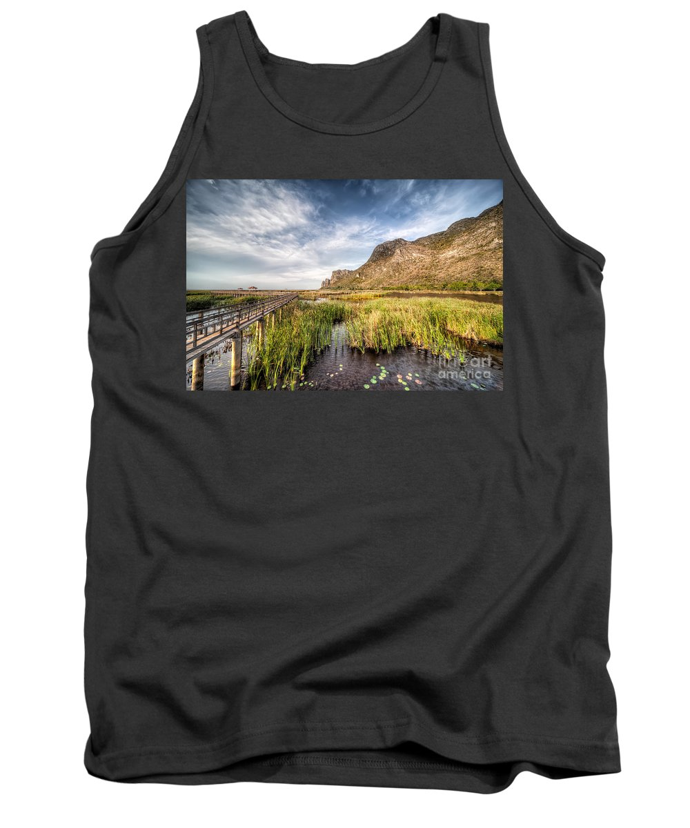 Asia Tank Top featuring the photograph Thai Walk Way by Adrian Evans