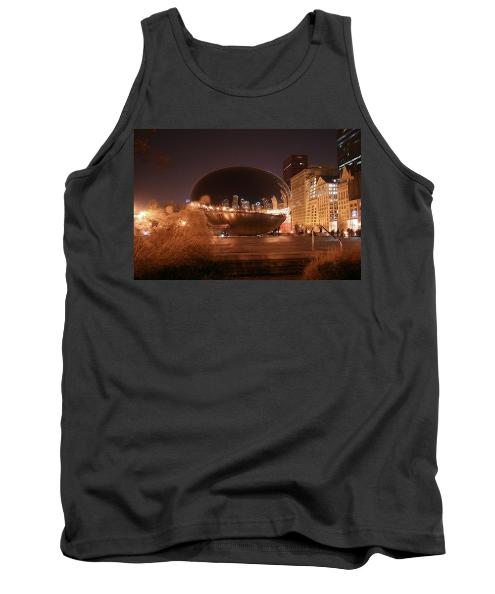 Bean Tank Top featuring the photograph The Bean On A Winter Night by Laura Kinker