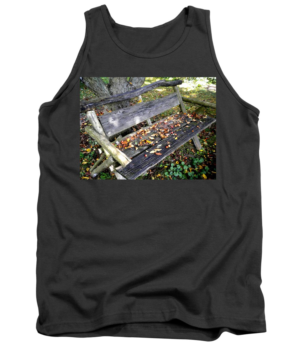 Rustic Tank Top featuring the photograph The Bench by Renate Nadi Wesley