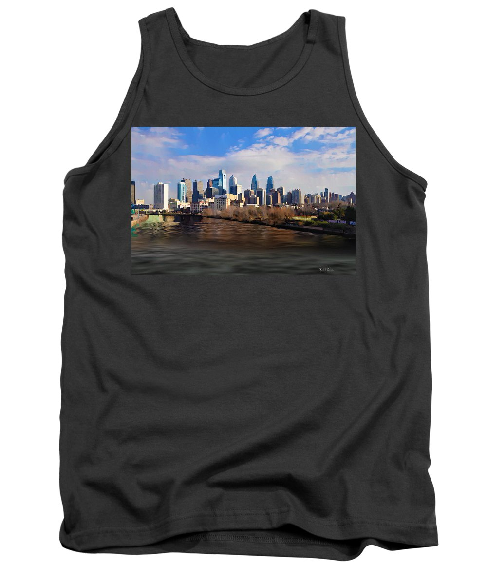 The City Of Brotherly Love Tank Top featuring the photograph The City Of Brotherly Love by Bill Cannon