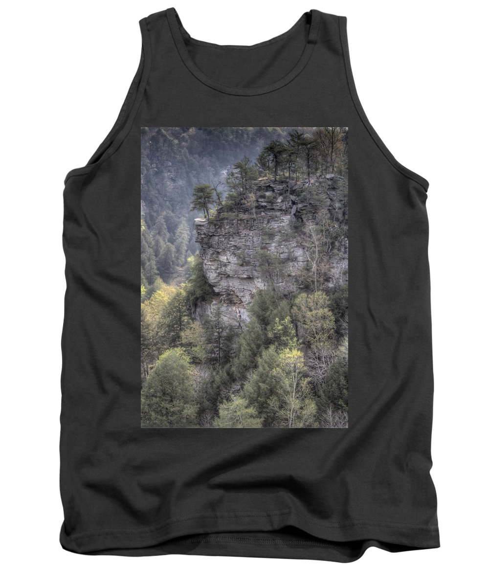 Fall Creek Falls Tank Top featuring the photograph The Cliff by David Troxel