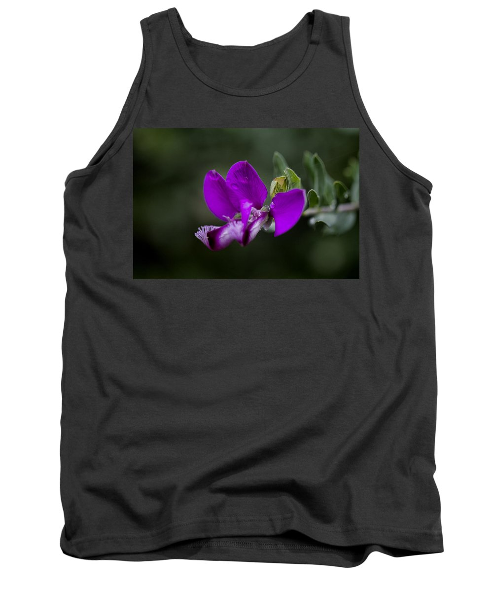 Flower Tank Top featuring the photograph The Color Purple V2 by Douglas Barnard