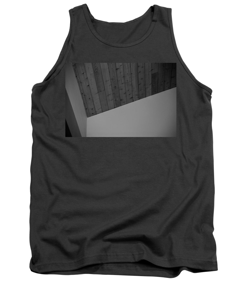 Black And White Tank Top featuring the photograph The Corner In Black And White by Rob Hans