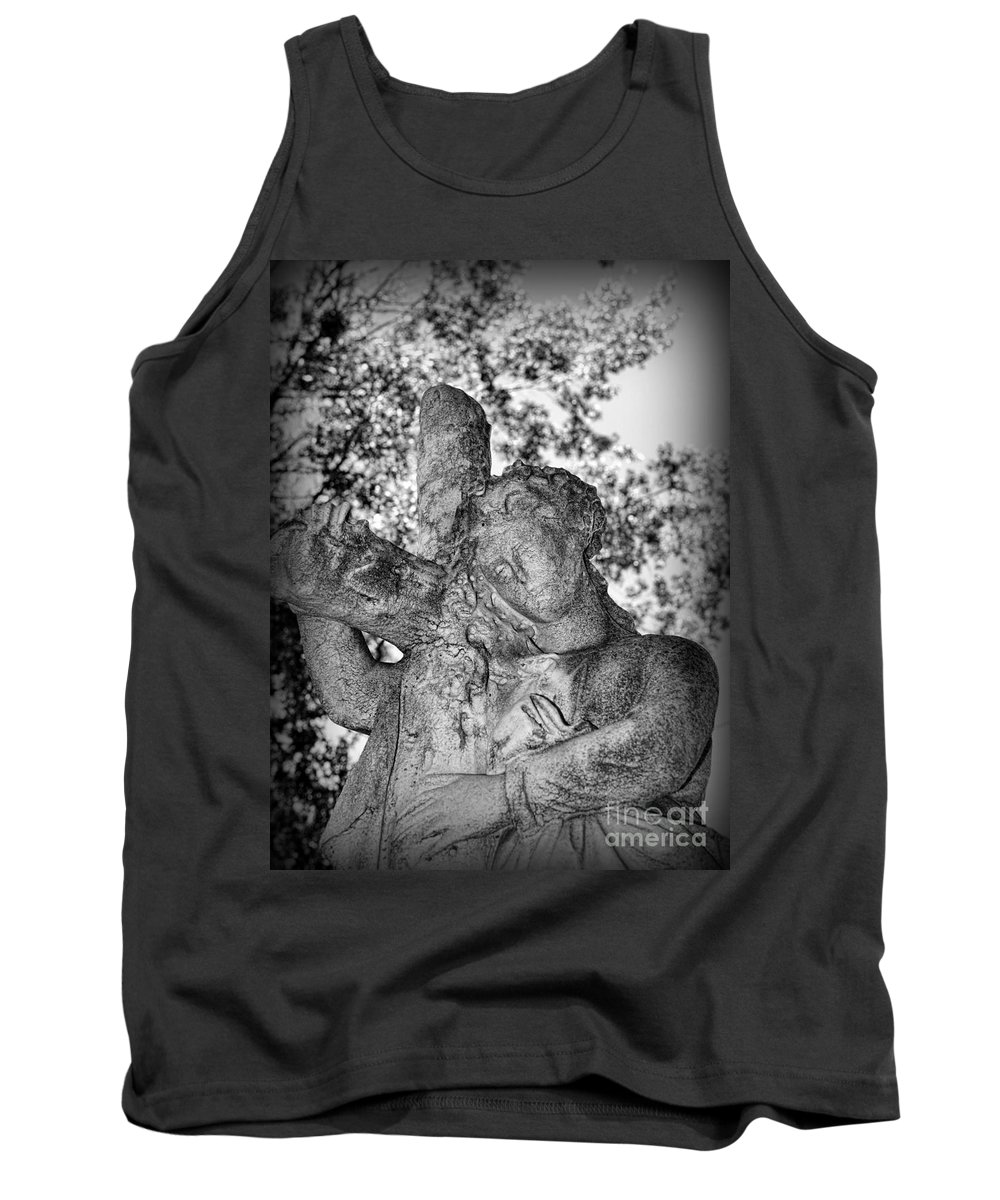 The Cross I Bear Tank Top featuring the photograph The Cross I Bear by Paul Ward