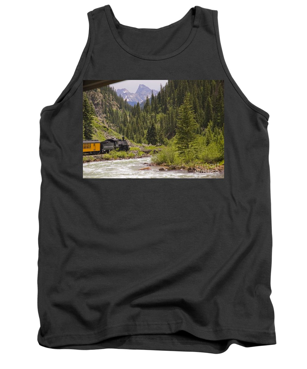 Drgw Tank Top featuring the photograph The Final Sprint by Tim Mulina