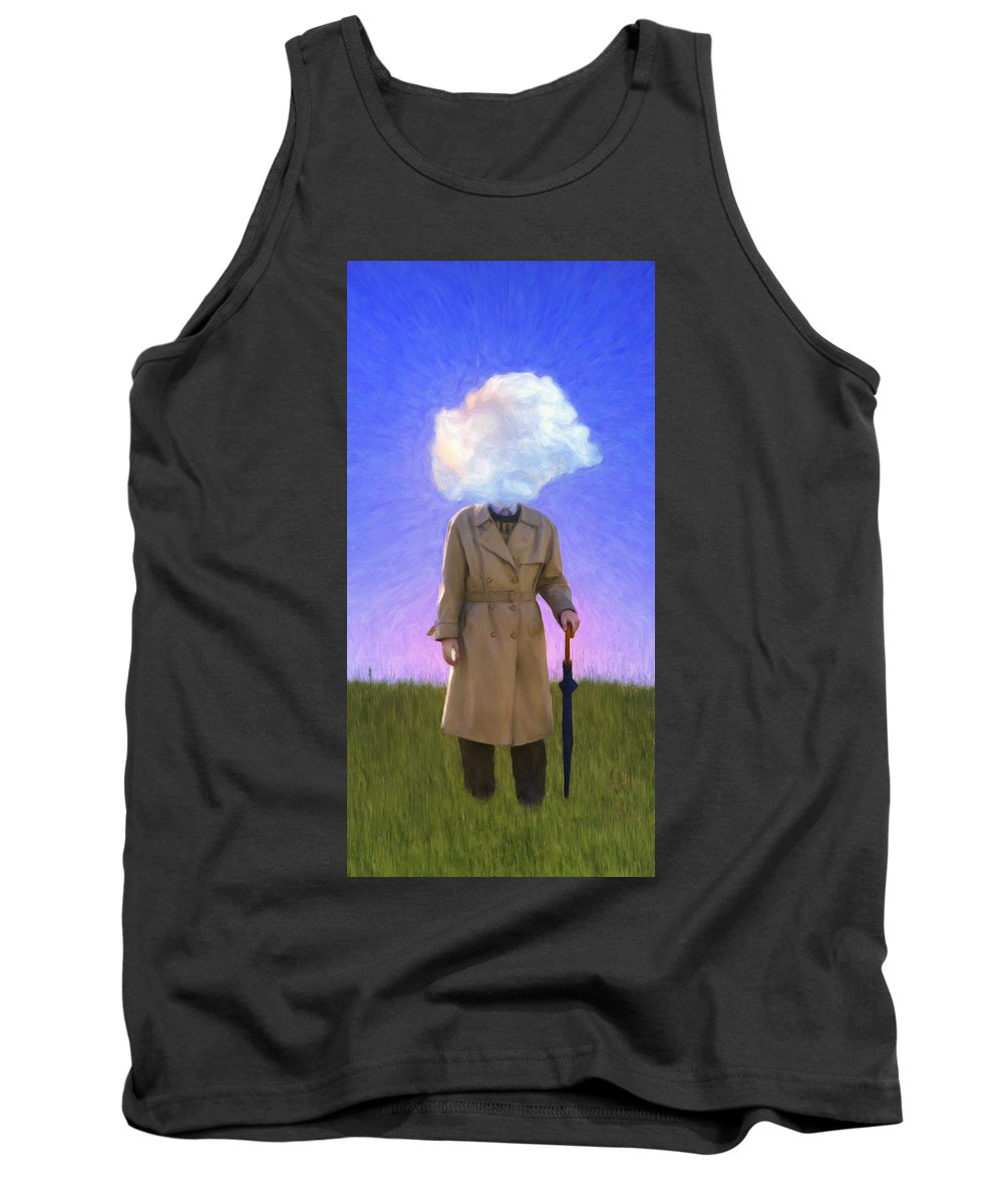 Fool On The Hill Tank Top featuring the painting The Fool On The Hill by Dominic Piperata