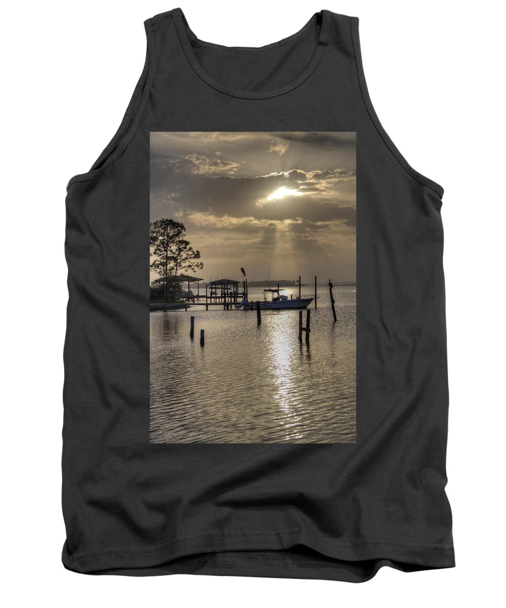Golden Tank Top featuring the photograph The Golden Hour IIi by David Troxel