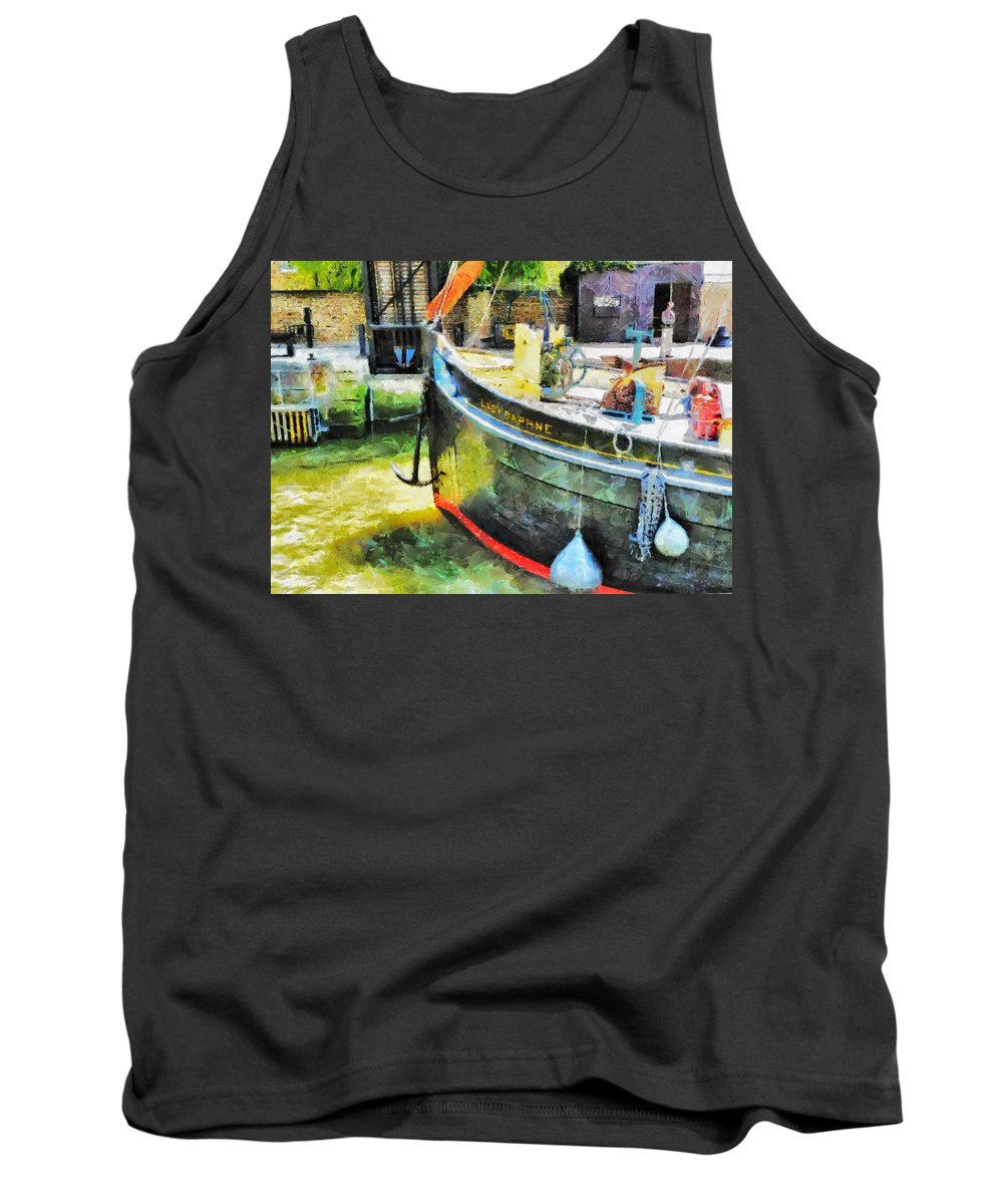 Sailing Tank Top featuring the digital art The Lady Daphne by Steve Taylor