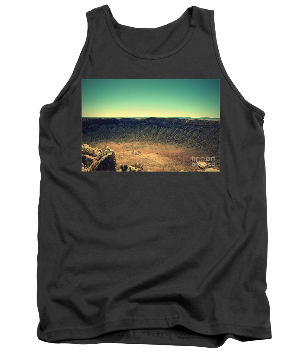 Meteor Crater Tank Top featuring the photograph The Meteor Crater In Az 4 by Susanne Van Hulst