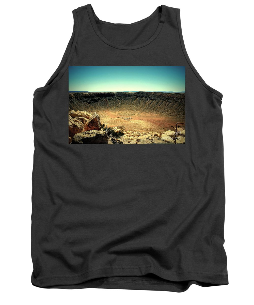 Meteor Crater Tank Top featuring the photograph The Meteor Crater In Az by Susanne Van Hulst