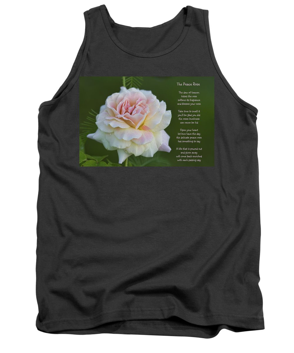 Peace Tank Top featuring the photograph The Peace Rose by Kathy Clark