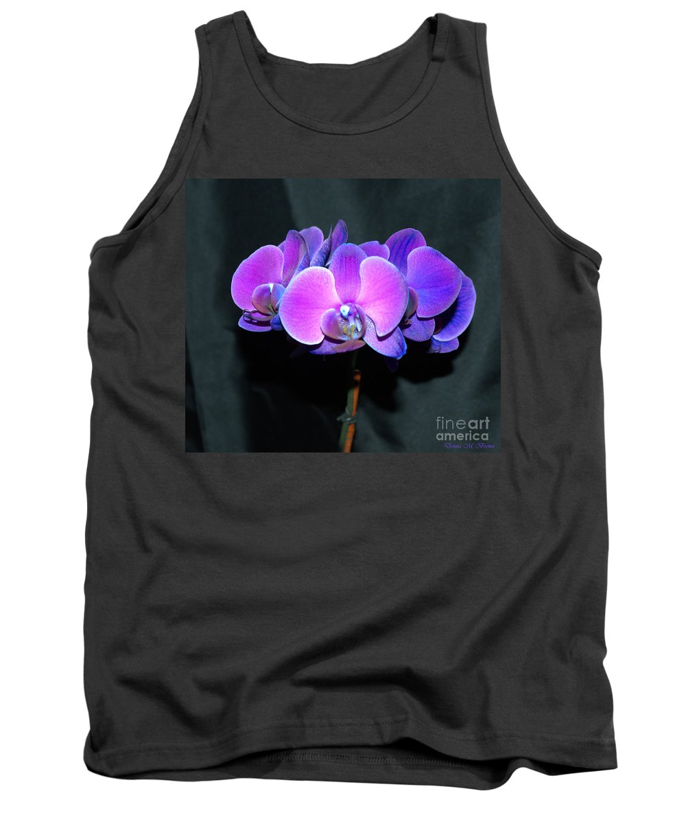 Flower Tank Top featuring the photograph The Shade Of Orchids by Donna Brown