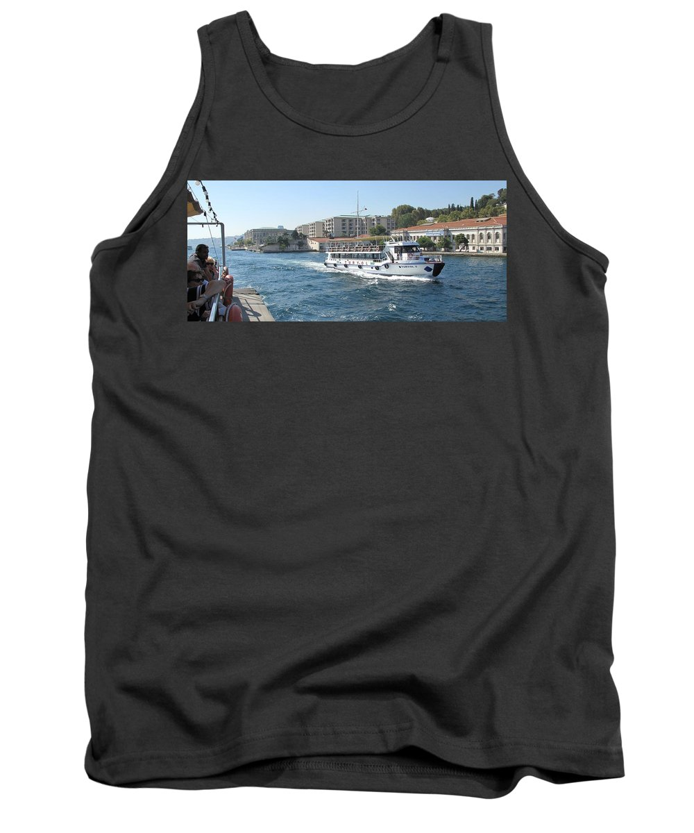 Boat Tank Top featuring the photograph The Voyage by Ian MacDonald