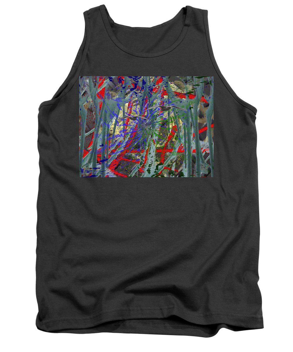 Abstract Tank Top featuring the digital art The Writing On The Wall 21 by Tim Allen