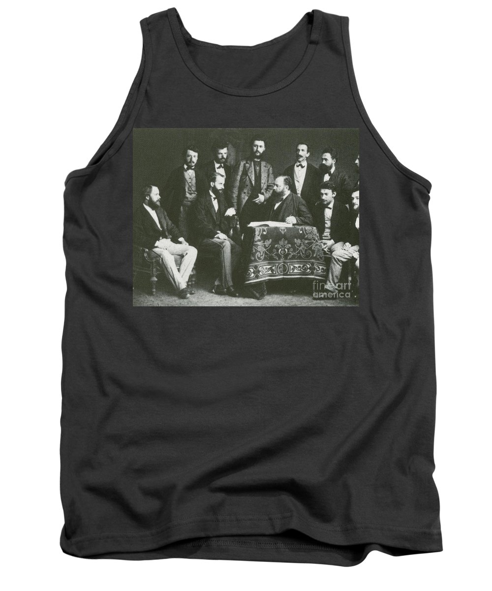 Historical Tank Top featuring the photograph Theodor Billroth And Assistants by Science Source
