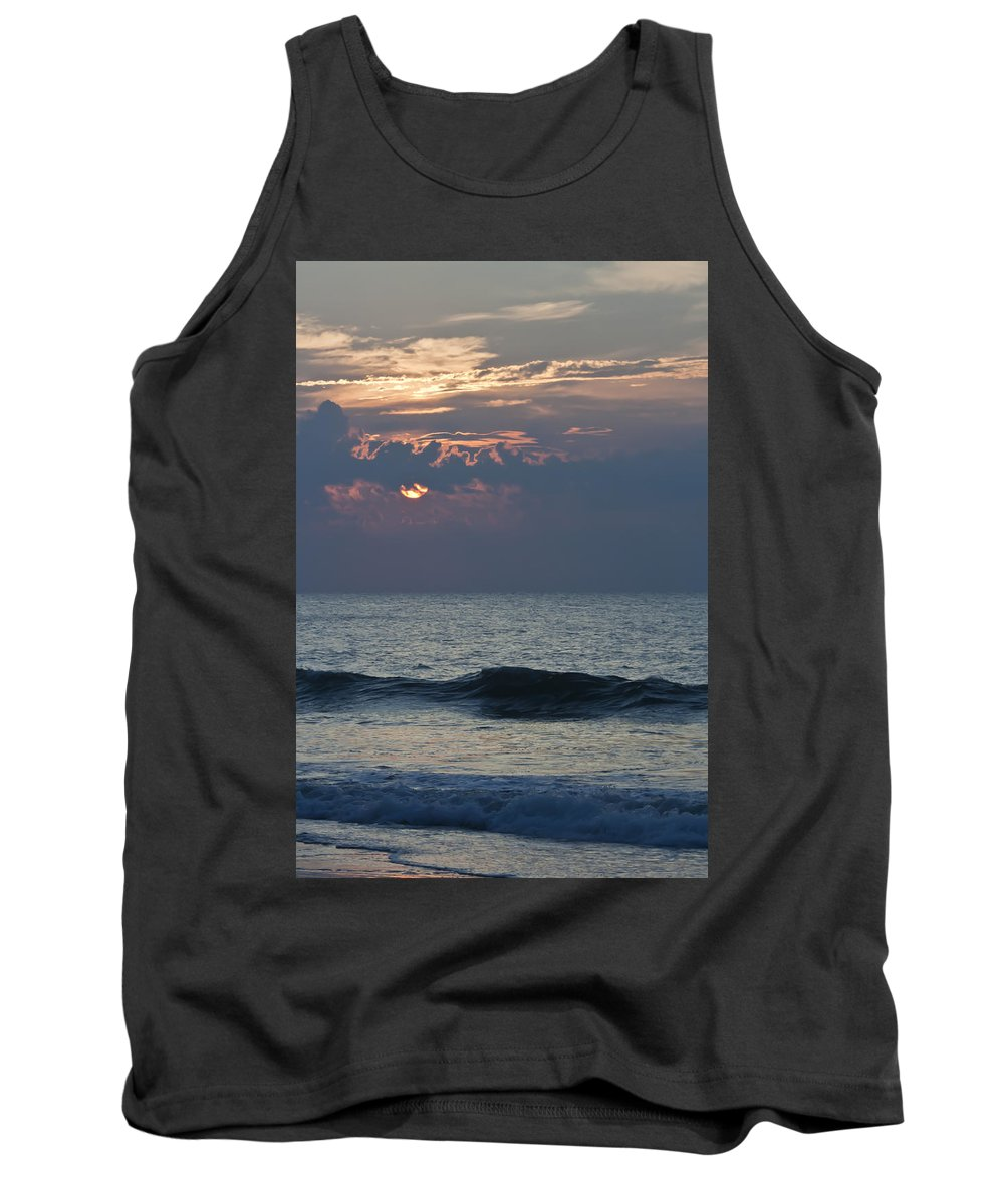Sunrise Tank Top featuring the photograph Thin Cloud Layer by Teresa Mucha